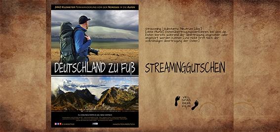 Streaming-Gutschein Deutschland zu Fuß