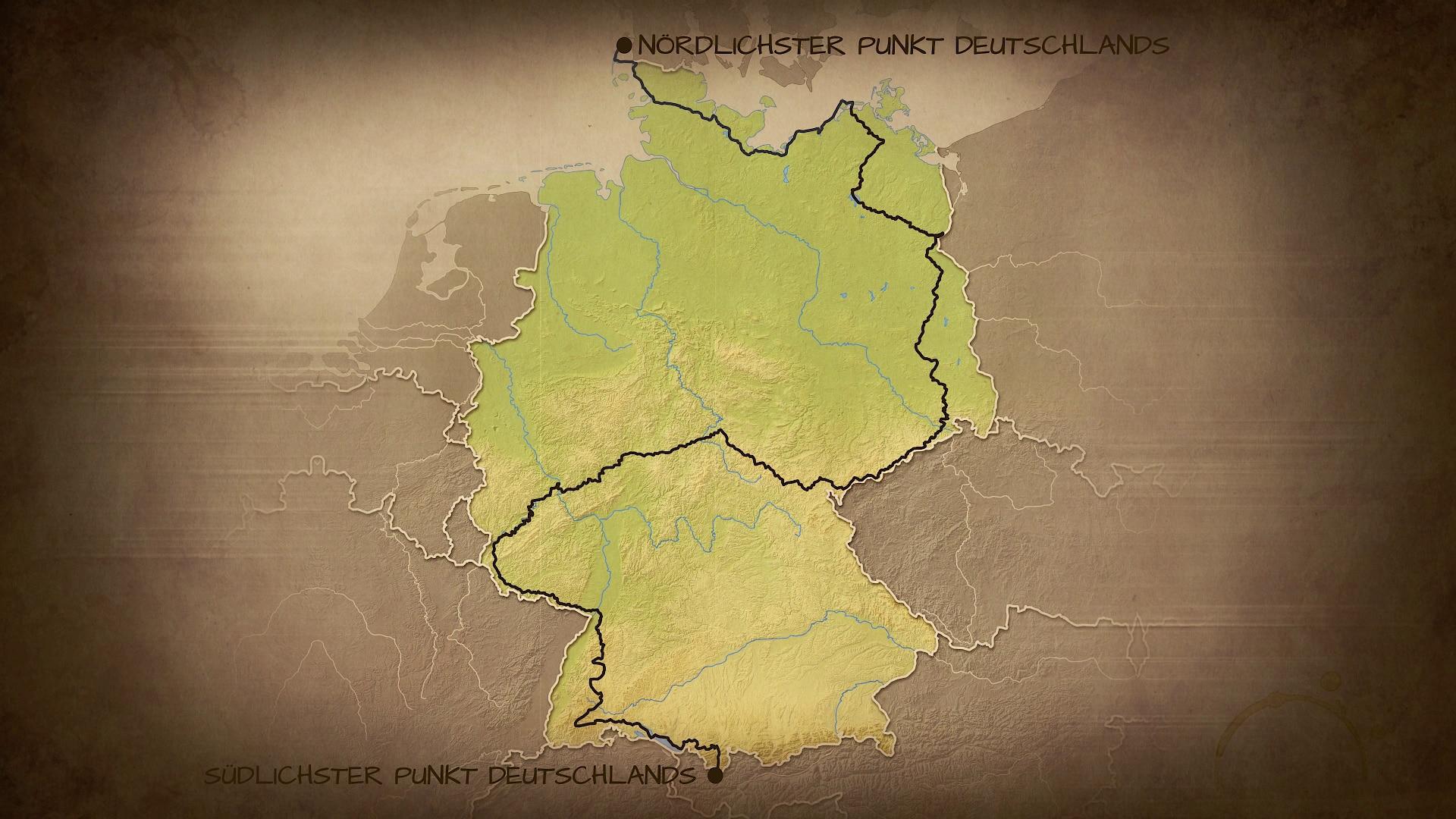 Reiseroute Deutschland zu Fuß